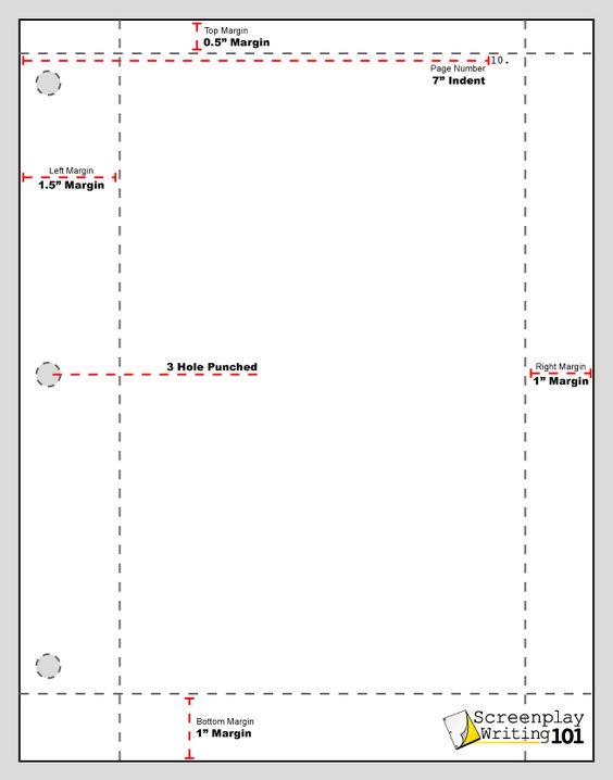 Proper Screenplay Margins! Screenplay Format Pinterest - screenplay template