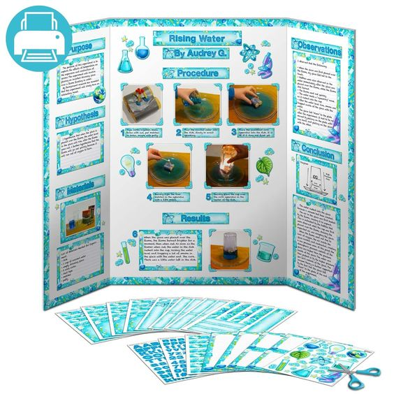 printable to decorate science fair display boards