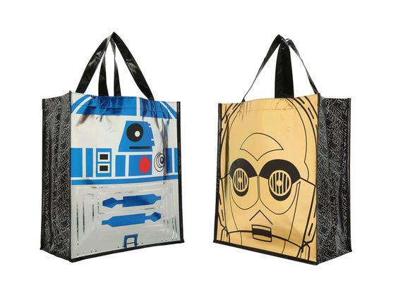 Foil Droids Large Shopper Tote