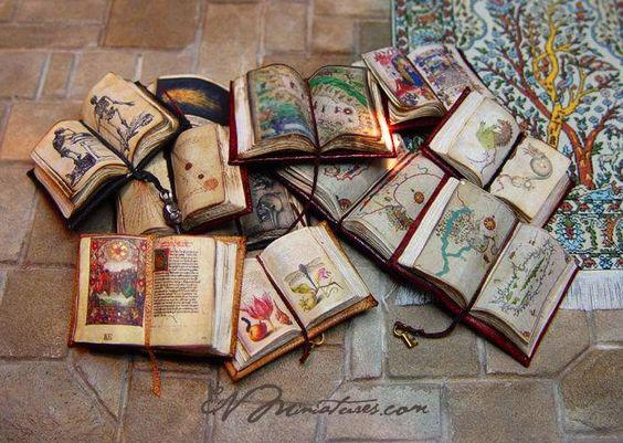 Beautiful Miniature Open Books by Ericka VanHorn
