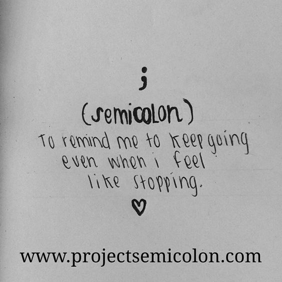Instagram Photo By @projsemicolon Via Ink361.com