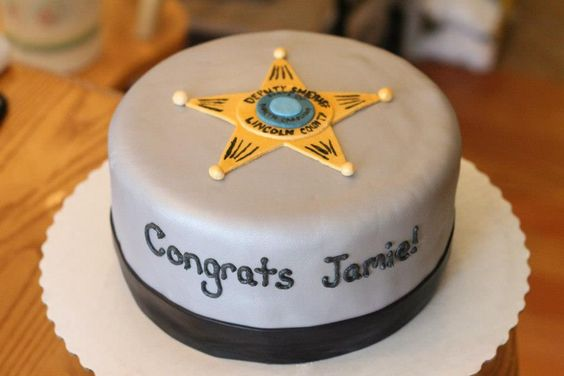 Law Enforcement Retirment Cakes | just b.CAUSE