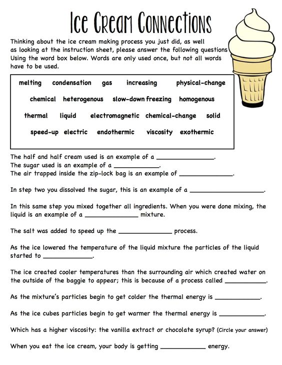 Worksheets Thermal Energy Worksheet activities keys and ice on pinterest baggie cream worksheet connecting ideas together solid liquid gas melting