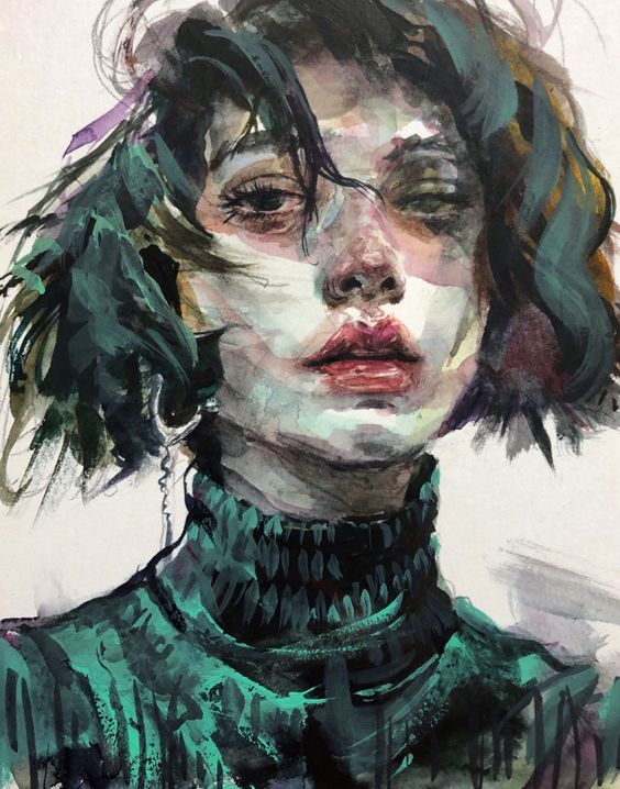 Very cool painting by byung jun ko Blue Spring #Illustration #Drawing #Painting