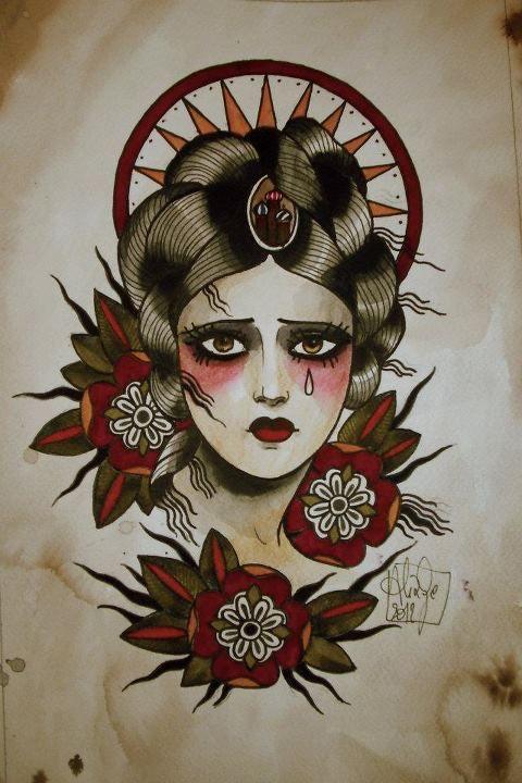 Cada vez mais quero fazer uma tatuagem com um desenho parecido a este.