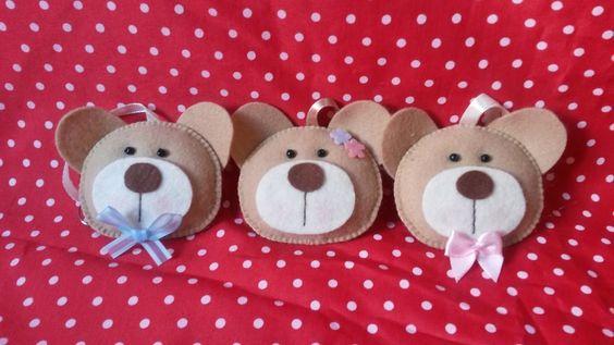 Chaveirinhos Ursinhos agora disponível na lojinha! Uma fofura, tanto para menino como para menina :)