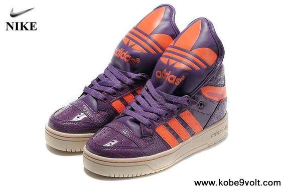 Discount Adidas X Jeremy Scott Big Tongue Shoes Purple Newest Now
