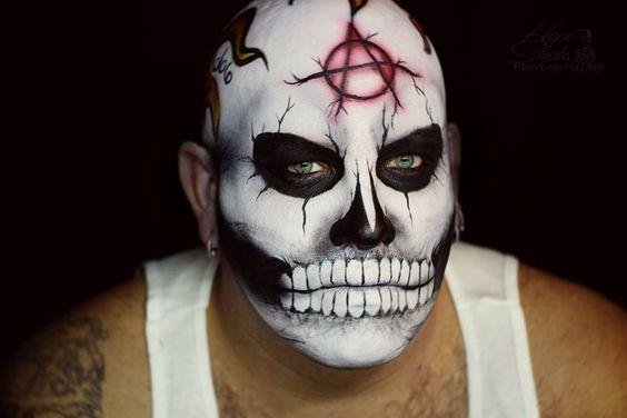 Hope Shots Photography Artist Unique Irish Model JR Sugar Skull Face painting