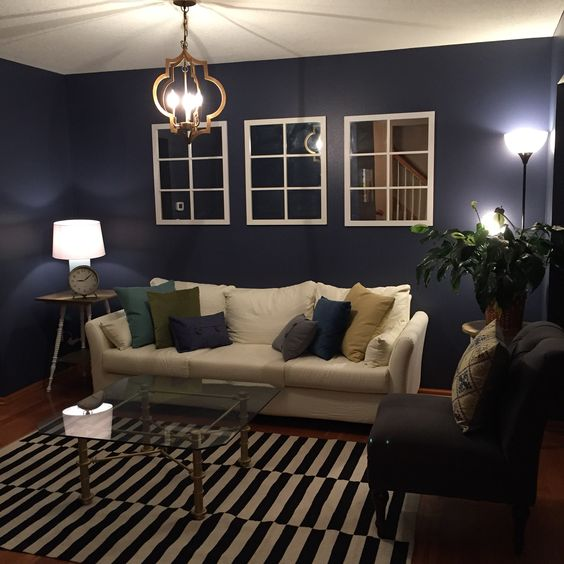 This Is My Front Room. Wall Color Is Indigo Batik From