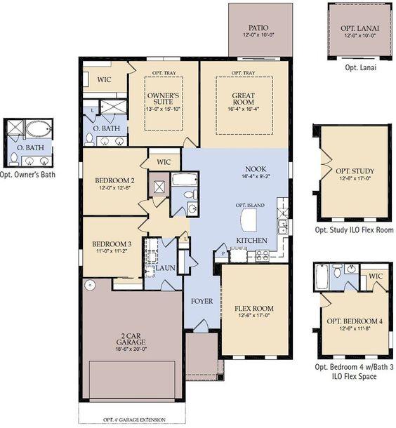 pulte homes sapphire floor plan via www.nmhometeam | pulte