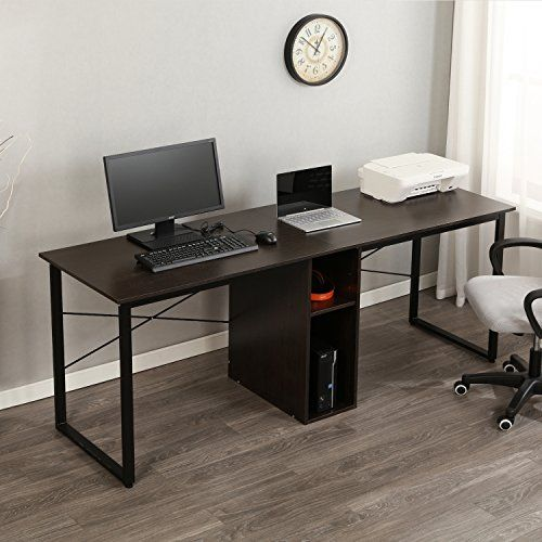 Sogespower 78 Inches Double Office Desk Computer Desk With Storage