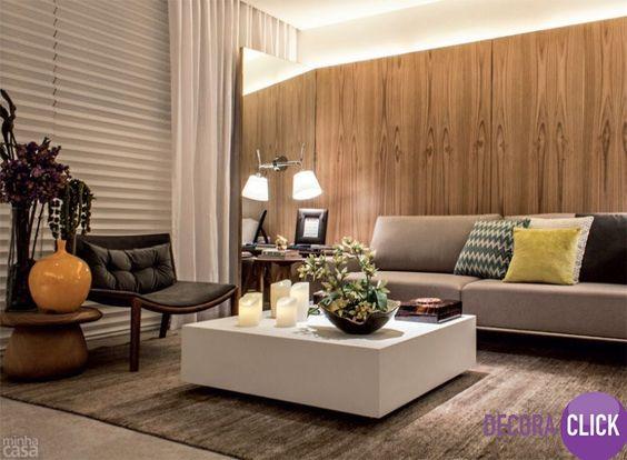 Decoração de Interiores - Salas de Estar Sala com ambiente chique ...