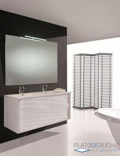Mueble de ba o doble asia 120 cm lavabo a elegir de 1 for Lavabo doble seno con mueble