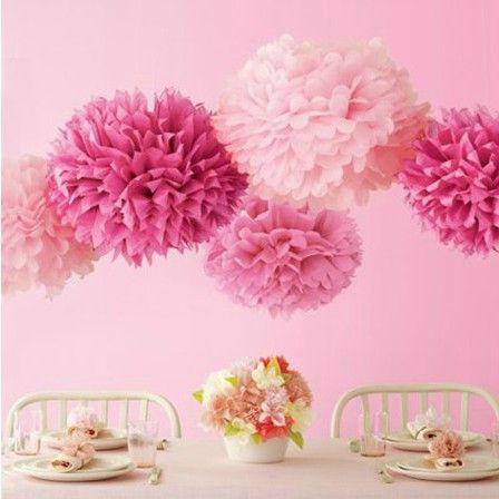"""10"""" polegadas 25cm 10 pcs/lote papel tissue pom- poms flor pendurado bola pompons US $7.90"""