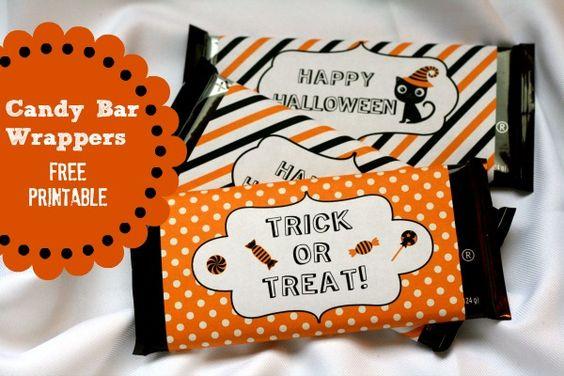 Halloween Candy Bar Wrapper {free printable} - Todays Creative Blog