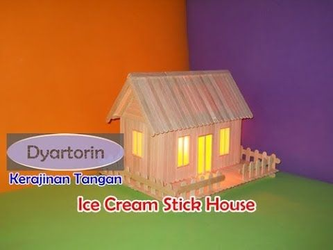 How To Make Ice Cream Stick House With Light Kreasi Miniature