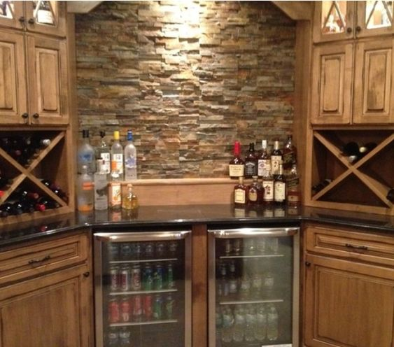 stack stone bar kitchen pinterest the o 39 jays wine coolers and the cabinet. Black Bedroom Furniture Sets. Home Design Ideas