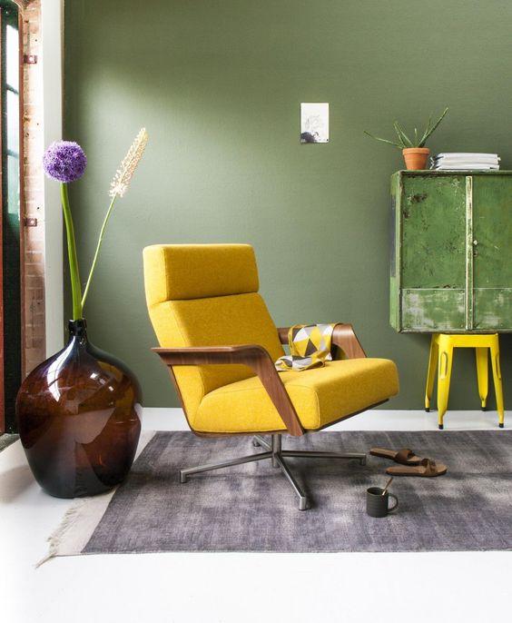 yellow | interior | styling | via @vtwonen