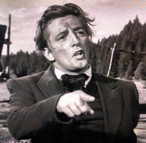Robert Mitchum in Rachel and the Stranger. What a face that man had. Great hair, too...