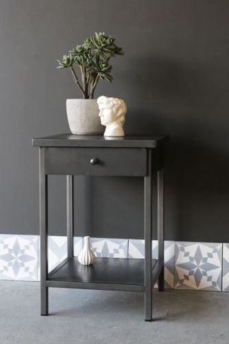 Vintage Style Iron Bedside Table