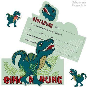 geburtstagseinladungen 8 dinosaurier - Google-Suche