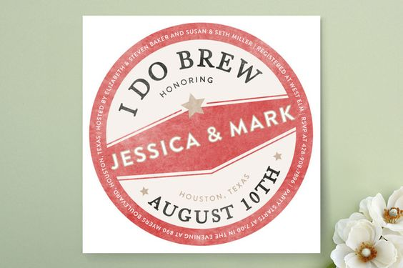 Vintage Coaster Bridal Shower Invitations by Fig and Cotton Paperie at minted.com