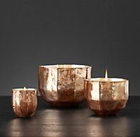 RH's Mercury Glass Luxury Candle Collection - Copper/Silk Road:FREE SHIPPING ON ORDERS OVER $50Our exclusive collection of custom-blended aromatics evokes exotic spices and distant lands. Hand poured into antiqued mercury glass vessels, the candles create mosaics of warm, flickering light.
