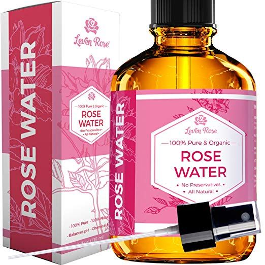 Amazon Com Rose Water Facial Toner By Leven Rose Pure Natural Moroccan Rosewater Hydrosol Face Spray 4 Oz Beauty Rose Water Toner Rose Water Leven Rose