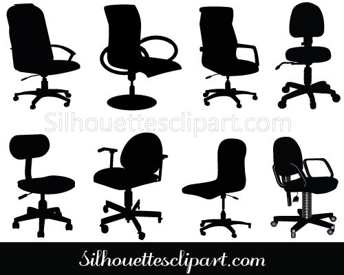 Office Chair Clip Art Pack Download Silhouette