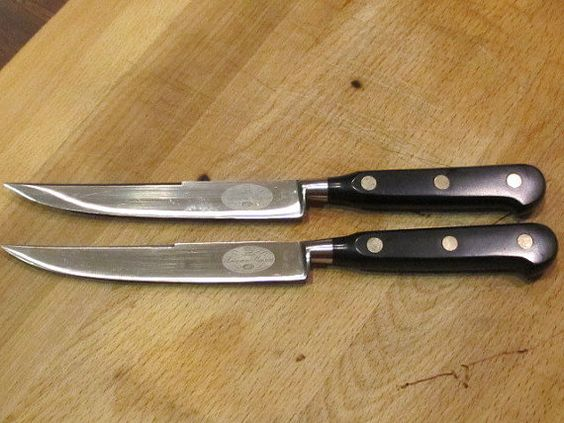 Steak knives frances o 39 connor and steaks on pinterest for Ancienne maison knives