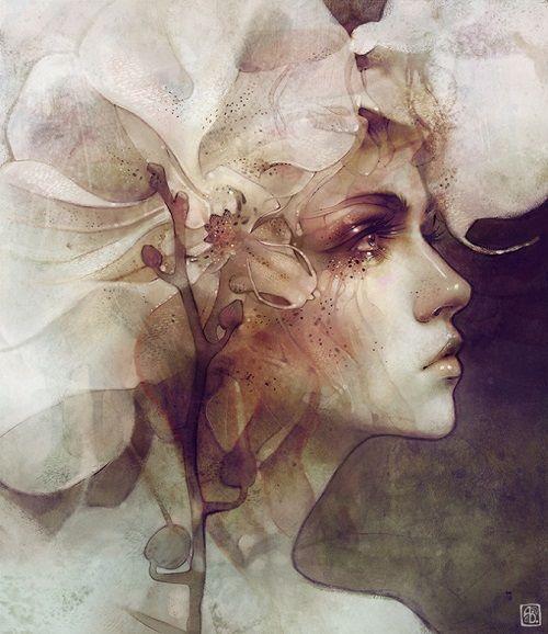 """Petal"" por Anna Dittmann | arte | ilustraciones femeninas bonitas | soledad y tristeza | cool art illustrations"