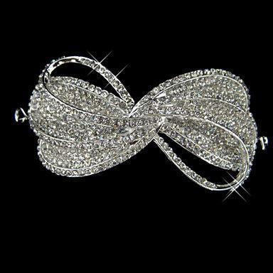 liga com rhinestone e artístico arco pérola nupcial tiara – BRL R$ 76,06
