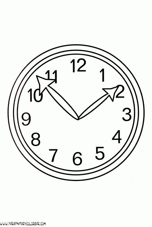 Reloj Para Colorear Clock Coloring Pages Analog Clock