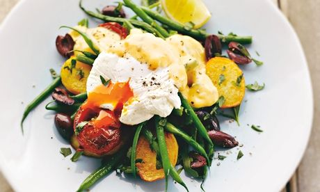 Nicoise eggs: a standalone brunch or lunch dish.