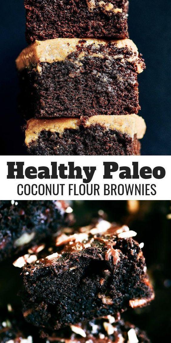 Triple Fudge Coconut Flour Brownies