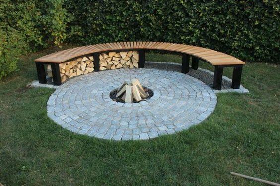 brennholz richtig lagern im garten Häuser Pinterest - feuerstelle im garten gestalten