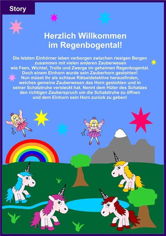 Ratseldetektive De Story Einhorn Goldenes Horn Geburtstag Einhorn Kindergeburtstag Basteln Einhorn Schatzsuche Kindergeburtstag