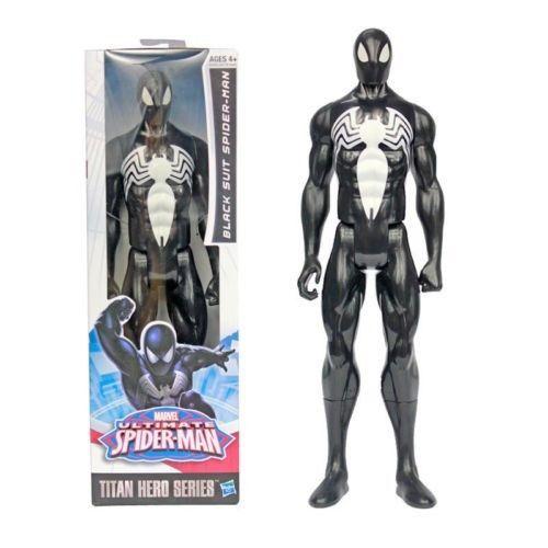 "12/"" ULTIMATE SPIDER-MAN TITAN HERO SERIES ACTION FIGURE BLACK SUIT SPIDER-MAN"