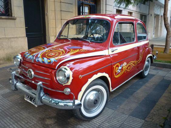 Fiat 600 - Fileteado por Alfredo Genovese (Buenos Aires, Argentina)