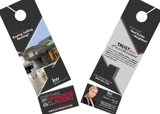Keller Williams Door Hangers Business Card Slits Business Card Slits Keller Williams Cards Williams