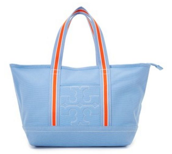 Red White and Aqua Tote By Tory Burch