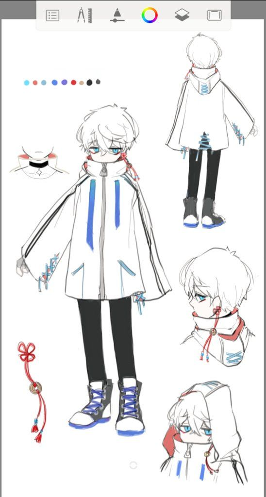 Cute Anime Boy Clothes Drawing