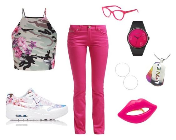 """Pink Dream"" by justbrandy79 ❤ liked on Polyvore featuring New Look, NIKE, Kate Spade, ASOS and CC SKYE"