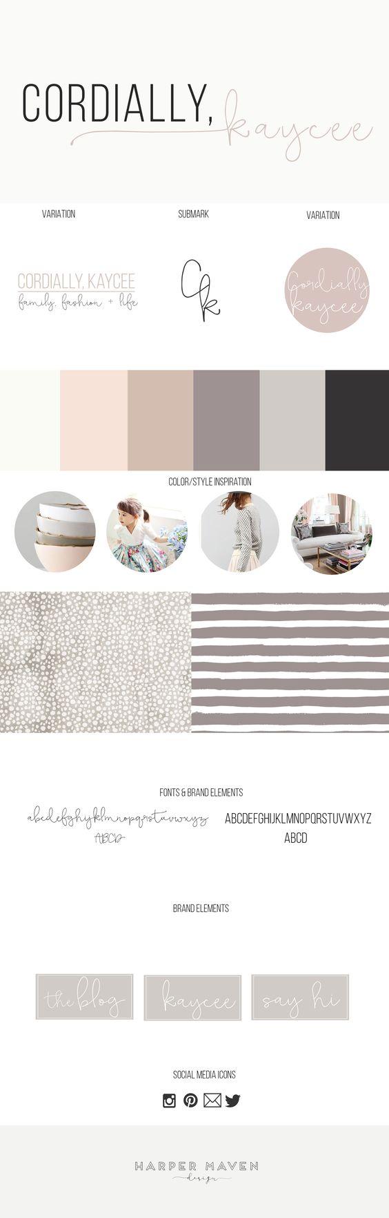 blog branding pastel