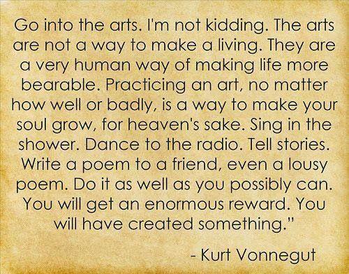 Great quote from Kurt Vonnegut