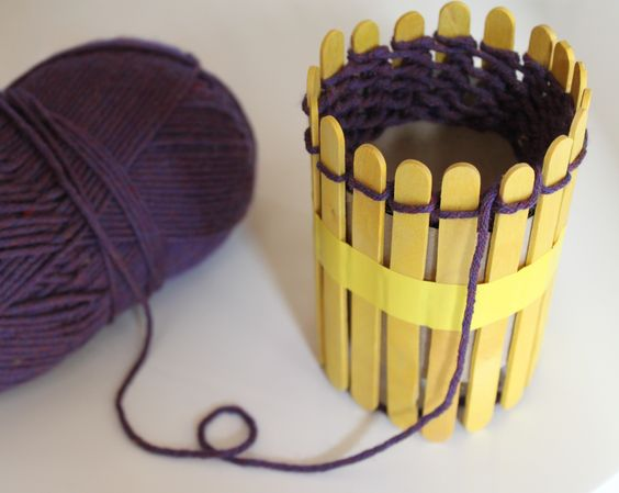 DIY Knitting Loom for Fine Motor and Arts Crafts.