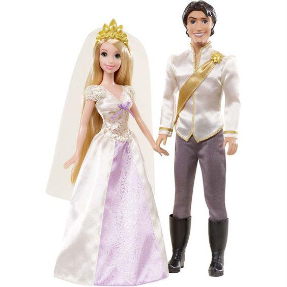 Enrolados Rapunzel e Flynn Noivos Mattel