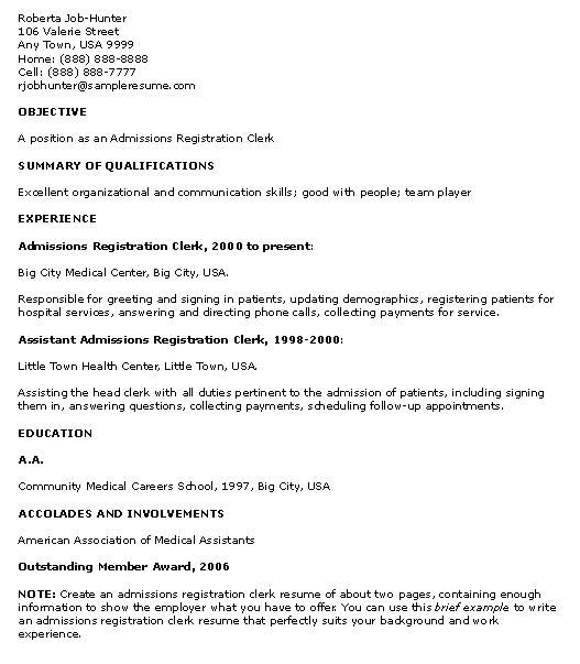 Web Tester Resume Sample: Clerk Curriculum Experience File Resume Submit Tip Vitae