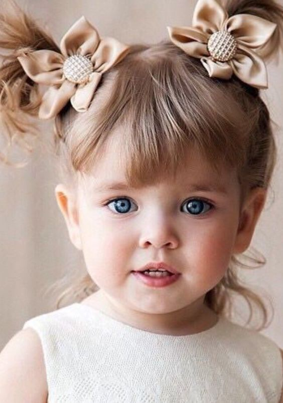 Kids Hairstyle With Bangs Cute Little Baby Cute Kids Kids Hairstyles