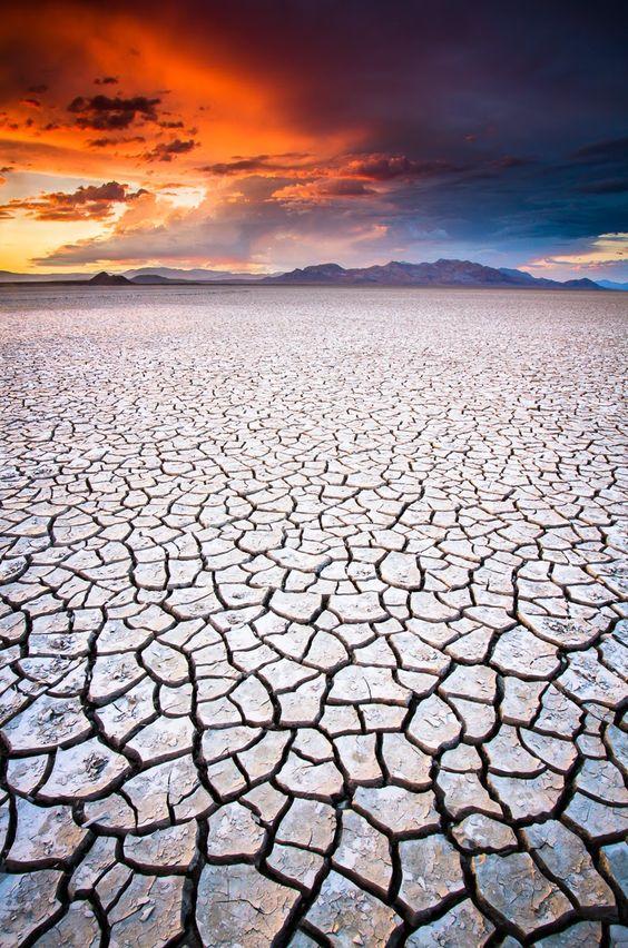 Il Black Rock Desert in Nevada, #USA. Da lago a deserto: una distesa piatta utilizzata anche per testare auto